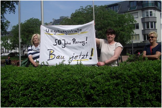 Demo der Bürgerinitiative BI Tempo 30 Bellheim Knittelsheim Ottersheim in Mainz. Archivbild v. privat