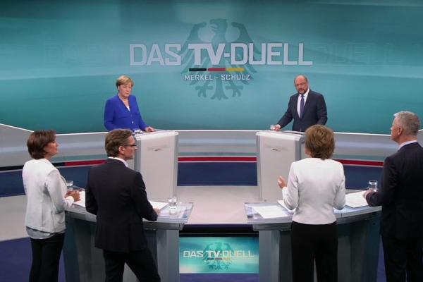 TV-Duell am 3. September. Foto: dts Nachrichtenagentur
