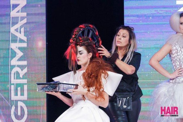Frisuren wie Kunstobjekte... Foto: Hair and Beauty Congress