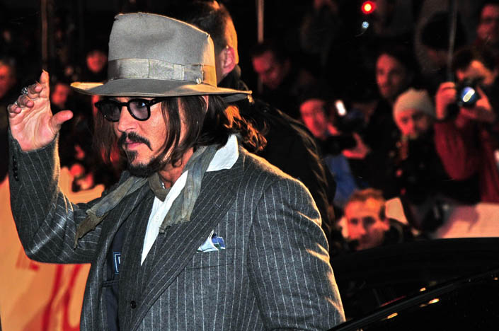 "Johnny Depp bei der Premiere von ""The Tourist"" in Berlin. Foto: : highgloss.de/8.11.2017"