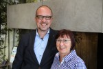 Pascal Bender und Roswitha Oswald-Mutschler. Foto: privat