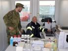 Bundeswehr aus Germersheim unterstützt Corona-Teststation Zivi-Militärische Zusammenarbeit