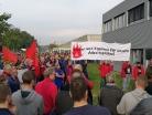 IG Metall, Betriebsrat Daimler Wörth, Protest - Feuer und Flamme für unsere arbeitsplätze