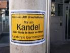 Kandel Demo Straßenmalereien