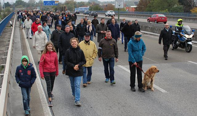 Rheinbruecke Woerth Demo 23.10.2016