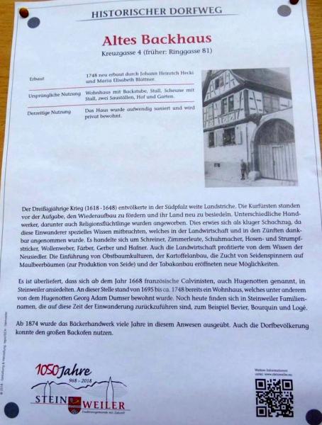 Historischer Rundweg Steinweiler - 29
