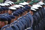 Soldaten beim Antreten