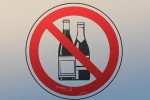 Alkohol verboten Schild