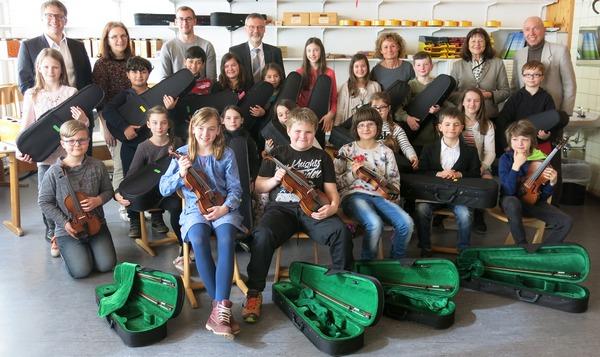 Neue Streicherklasse auch an der Grundschule Annweiler