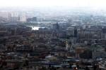 Blick über Moskau mit Moskwa im Hintergrund