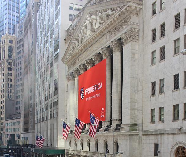 Stock Exchange in New York in der Wallstreet