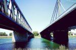 Rheinbrücke Wörth Maxau von unten