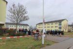 Migranten in der AfA Speyer in der ehemaligen Kurpfalz-Kaserne.