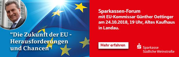 Sparkassen-Forum mit EU-Kommissar Günther Oettinger