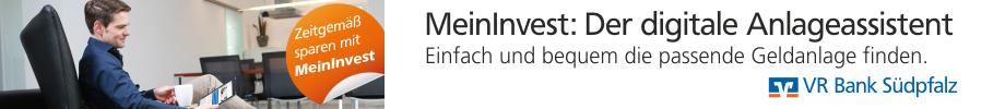 VR Bank Südpfalz - MeinInvest - Der digitale Anlageassistent