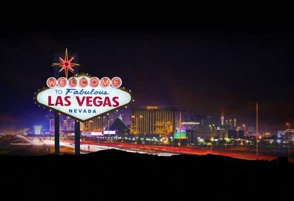 Stadtschild am Eingang von Las Vegas