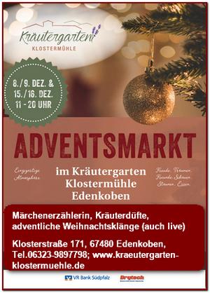 Adventsmarkt-Kräutergarten-Klostermühle