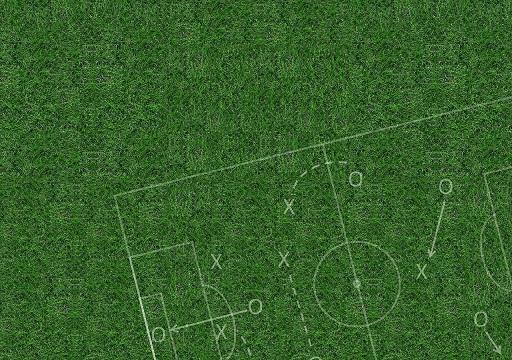 Strategische Skizzen beim Fußball.