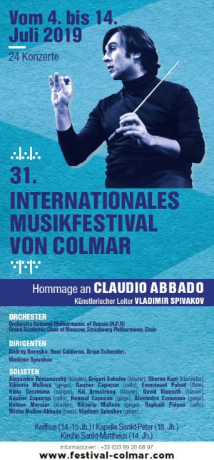 Großes Internationales Musikfestival von Colmar - Le Festival International de Colmar