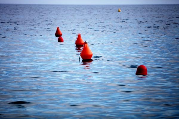 Bojen im Meer