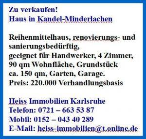 Haus in Kandel-Minderslachen zu verkaufen