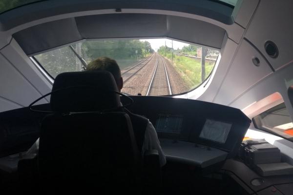 ICE-Lokführer bei der Deutschen Bahn
