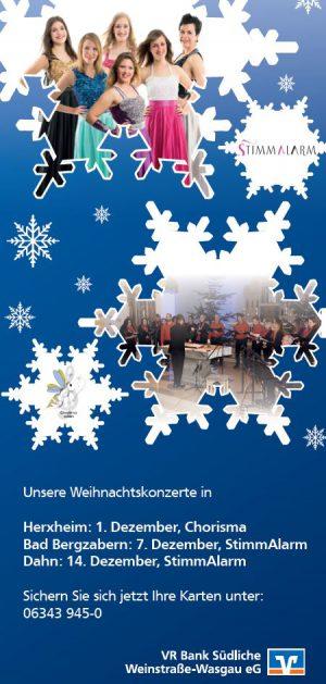 VR Bank Südliche Weinstraße-Wasgau - Weihnachtskonzerte