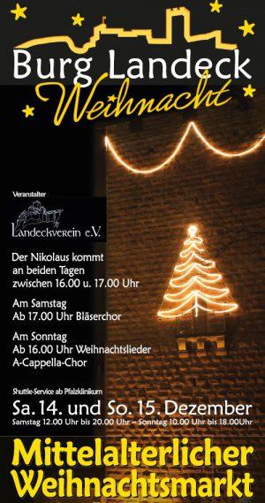 Mittelalterlicher Weihnachtsmarkt Burg Landeck