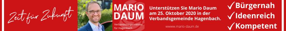 Mario Daum, SPD-Bürgermeisterkandidat für die Verbandsgemeinde Hagenbach