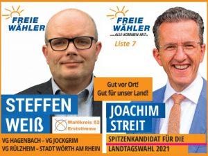 Landtagswahl RLP - Steffen Weiß - Joachim Streit - Freie Wähler