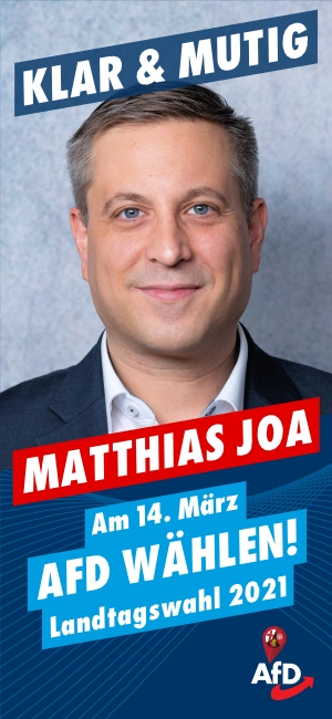 Landtagswahl 2021 - Matthias Joa, AfD