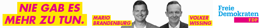 Bundestagswahl 2021 FDP - Volker Wissing - Mario Brandenburg