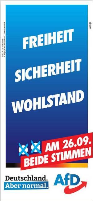 Bundestagswahl 2021 - AfD-KW 36