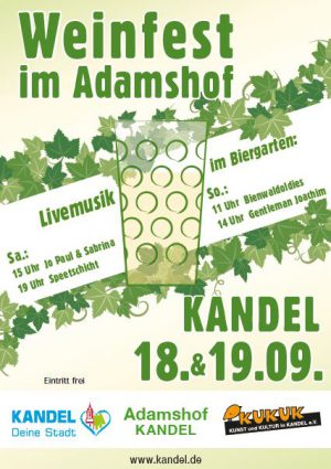 Weinfest im Adamshof in Kandel